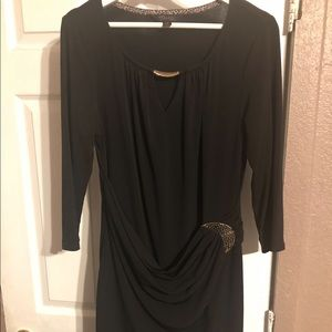 Thalia Black Dress
